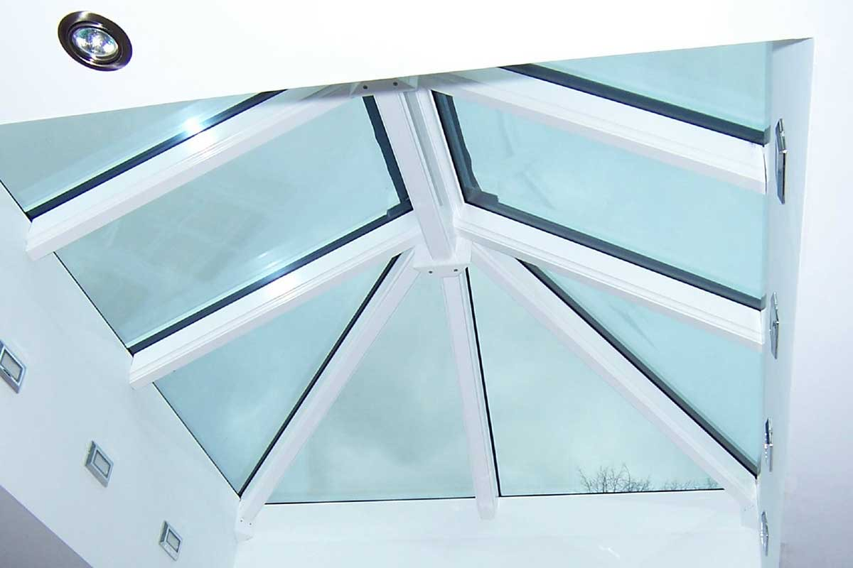 Pyramid Flat Roof Lantern Aluminium Dartford, Kent