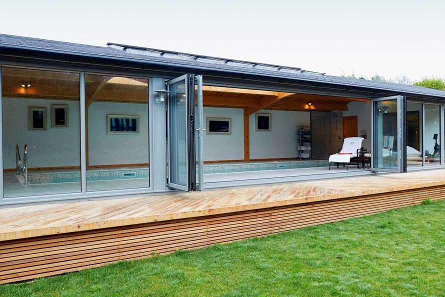Aluminium Bi-Fold Doors Installed