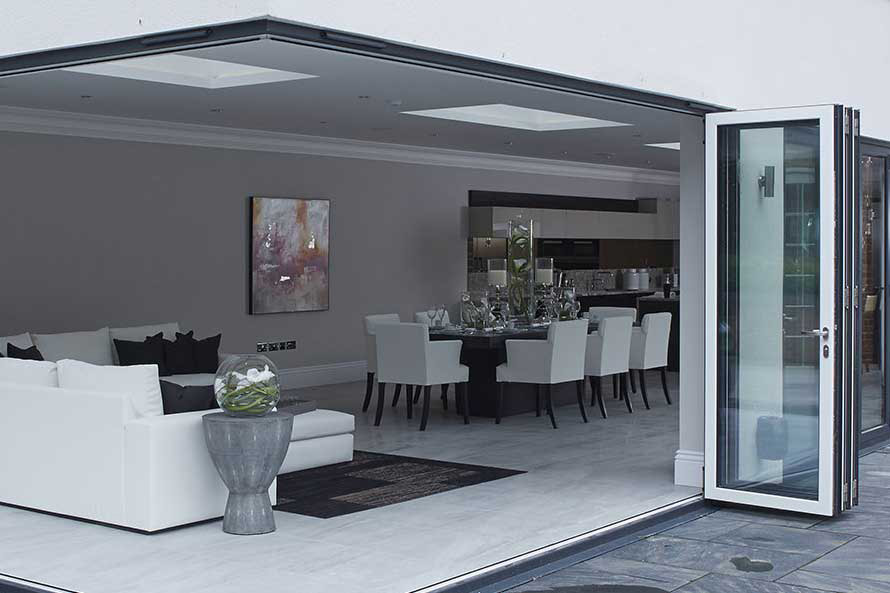 Right angle Bi-Fold Doors Kent