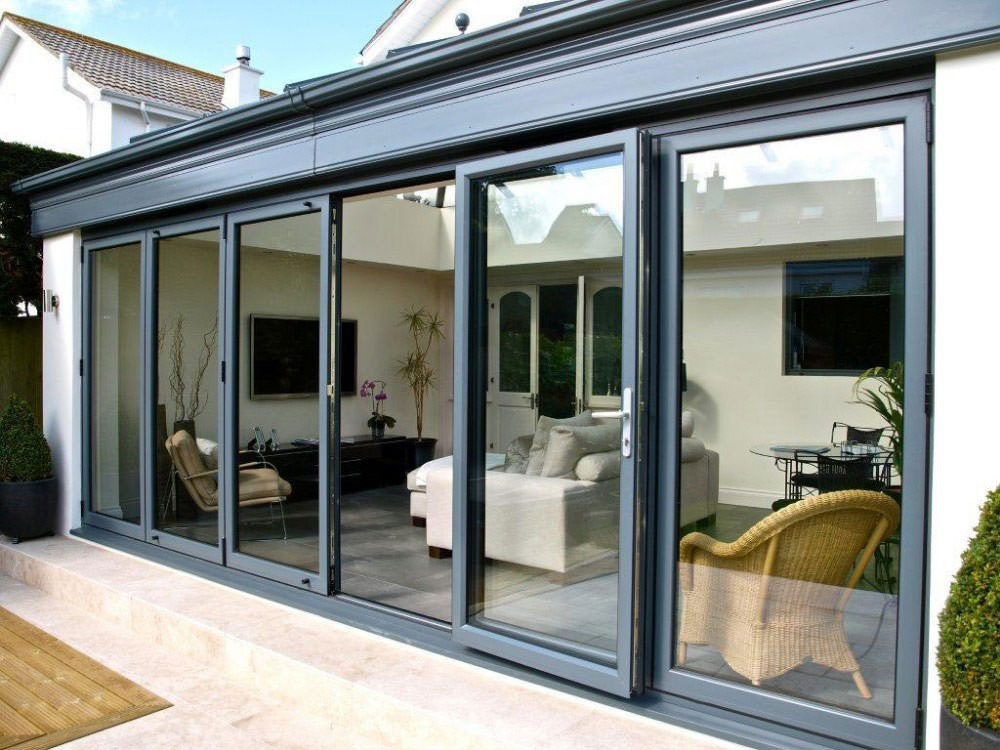 Aluminium Bi-Fold Doors Fitted